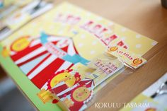Circus Party magnet