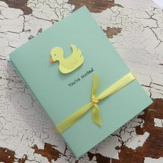 Ducky invite green--love this one! Simple and adorable.