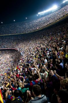 Camp Nou (#Spain). For the sports-minded, little can compete with the spectacle of a match at FC Barcelona's massive football stadium. Meet up there with the #RibbonApp