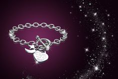 instead of (from My Boutique Store) for a rhodium-plated 'I love you to the moon and back' bracelet - save Ring Bracelet, Ring Earrings, Bracelet Making, Diamond Earrings, Jewelry Making, Bracelets, White Gold Sapphire Ring, White Gold Rings, Boutique Stores