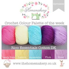 Sprinkles - RICO Essentials Cotton DK £12.5 http://www.thehomemakery.co.uk/sprinkles-rico-essentials-cotton-dk