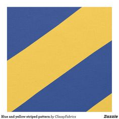Blue and yellow striped pattern fabric