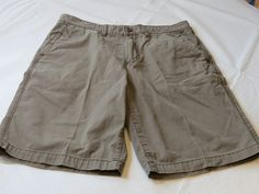 Men's Tommy Bahama Jeans 34 brown school casual cotton shorts pre owned #TommyBahama #CasualShorts