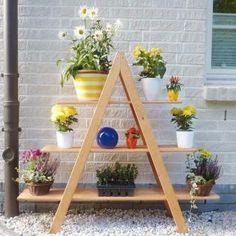 Bloemenrek driehoek MAXI - grenenhout - Gratis levering! 55 euro