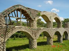 amazing! this structure is made of 2 liter soda bottles