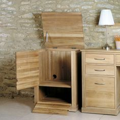 mobel solid oak printer cupboard