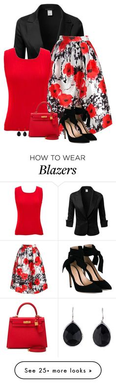"""""""friday"""" by divacrafts on Polyvore featuring Sans Souci, jon & anna, Gianvito Rossi, Hermès, Ippolita and Original"""