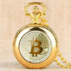 Correct Time, Quartz Pocket Watch, Pocket Watch Necklace, Retro Design, Gold Watch, Watches, Pattern, Gifts, Etsy