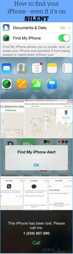 This is a lifesaver. I didn't know you could have your phone make a noise, even if it's on silent. Find your lost iPhone - even when it's on silent and lost in your home - OurThriftyIdeas.com