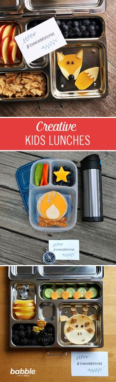 These adorable and creative lunchbox creations are a great way to get your little ones excited about lunchtime. Go bananas with a bagel transformed into a monkey or turn their favorite sandwich into a leaf. Click for kids food art ideas.
