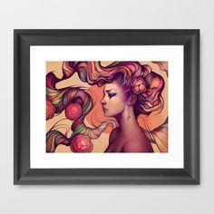 Leah Framed Art Print by Megan Lara - $34.00