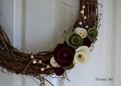 Seasonal Holiday Wreath for Christmas or Year Round by threadowl