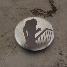 Nosferatu Shadow  Vampire  Horror  Button by IdleHandShop on Etsy