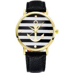 montre ancre marine noir  #montrestendance #montresfemme