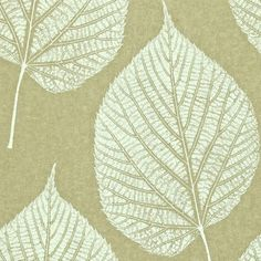 Leaf Wallpaper - Gold/Cream (110370/110970) - Harlequin Momentum Vol 2 Wallpapers Collection