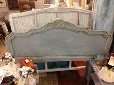 French Provencial Headboard Queen Annie Sloan by RedeemedFinds, $275.00