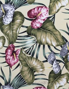 Hawaiian upholstery fabric for #home and #office #upholstery #fabric #botanical #etsyhome