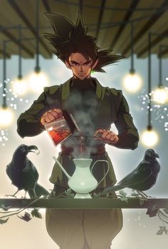 Goku Black-Zamasu   Dragon Ball Super Pics - don't know what the fuck this is supposed to be - a crossover maybe? -but it looks cool