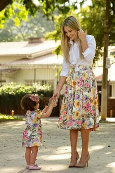 Matching mom and mini me outfit