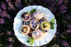 Theta Tea Party Pansy Cookies