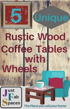 Finding the right rustic coffee table is like picking out the perfect piece that will finish off the puzzle of your room design nicely Coffee Table With Wheels, Rustic Coffee Tables, Rustic Wood, Art Pieces, Puzzle, Room, Design, Home Decor, Bedroom