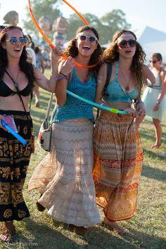 Three Girls in Maxi Skirts, Bonnaroo