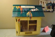 Southside Art League. Greenwood, IN.  	 With the help of the Greenwood Public Library and a grant from Duke Energy, this Little Free Library was given to the Southside Art League to be placed at their artist showplace and activity center. We have placed books all about art for every age in this Library which is in the heart of a Greenwood neighborhood!