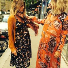 Just teaching my sister how to wear a Heimstone scarf... #backtobasic #heimstone #heimstone #prints #mixandmatch #jumelle #twins @threesevenus #bigmamascoming
