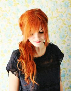 Red hair doesn't gray as much as other hair colors. Red hair initially tends to turn blond and then white.