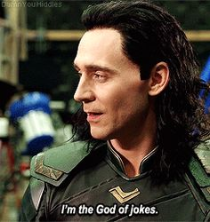 """I'm the trickster."" Gif-set (by damnyouhiddles): http://maryxglz.tumblr.com/post/166614361767/damnyouhiddlesim-the-trickster"