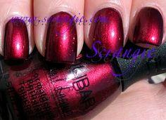 Nubar Enchanting Red (Shimmery Dark Cranberry Red)
