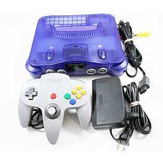 Nintendo 64 N64 Grape Purple System & Gray Controller