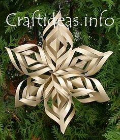 Handmade paper ornaments Stars/snowflakes made from posterboard-size to help with scale? Could do in monochrome colors.-vt