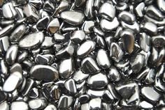 Hematite - surround these babies around your wifi router to protect you from harmful #EMF. #crystals #crystalrockstar
