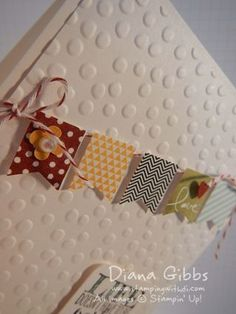Banner Blast stamp set and punch with Decorative Dots embossing folder - Stampin With Di