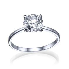 """1.17 carat G/SI1 """"Lioness"""" Simple Classic 4 Prong Round Brilliant Cut White/Yellow Gold 14k Diamond Solitaire Engagement Ring on Etsy, $2,822.00"""