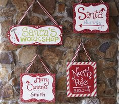 I need to make some wooden signs for next Christmas!