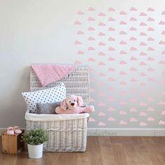 Vinilos decorativos de nubes rosas -Decoración con nubes azul - Pegatinas bonitas de nubes para decoración infantil - Nubes adhesivas pared de NicolasitoEs en Etsy