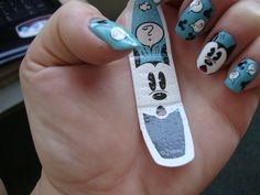i have these bandaids and i thought they could inspire cute nail art. i guess someone else had the same idea too!