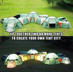 Creative tent city