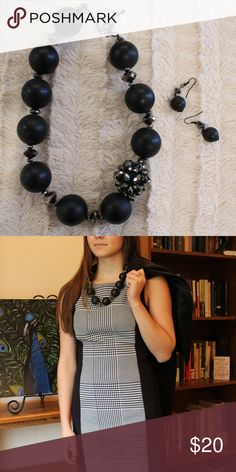 Chunky Black Necklace Ring in the new year in style! This piece is sure to make a statement. Jewelry Necklaces