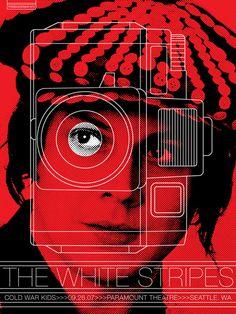 Rob Jones - White Stripes gig poster
