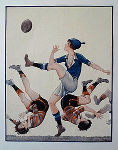 Shop Vintage French Women's Rugby - Poster created by TheRugbyStore. Personalize it with photos & text or purchase as is! Female Soccer Players, Rugby Players, French Vintage, Vintage Art, Poster Vintage, Vintage Images, Messi, Rugby Poster, Rugby Girls