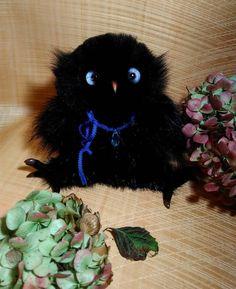 4 отметок «Нравится», 1 комментариев — Anna Magic Owl Flower (@magic.owl) в Instagram: «Тёмной ночью мы желаем добрых снов  #owl #owllove #toy #handmade #black #night #gift #birds…»