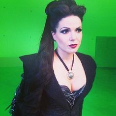 Lana parrilla love the evil queens makeup!!