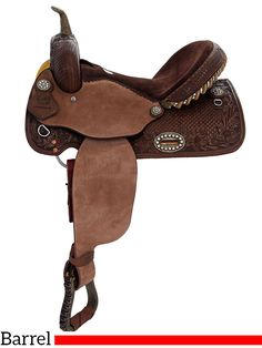 "** SALE ** 14"" 15"" Alamo Chocolate Barrel Racer or Pleasure Saddle 1274-3M 1275-3M"