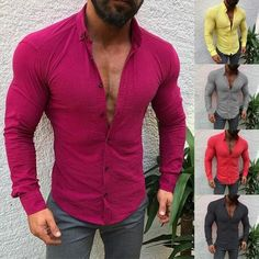 Casual T Shirts, Men Casual, Casual Outfits, Collar Shirts, Men's Shirts, Dress Shirts, Button Shirts, Tees, Linen Tshirts