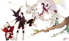 Captains. This is lovely. Kuroo, Daichi, Bokuto, Ushijima, Oikawa. Haikyuu!!
