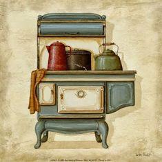 zülüşün işleri: mutfak temalı dekupaj resmleri