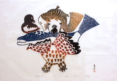 1904-1983 During the course of Pitseolak's influential career as an artist she  created more than 7,000 drawings depicting her experiences in traditional  Inuit culture and life. Pitseolak's first images were published in a Cape  Dorset print collection in 1960 and appeared in each subsequent collection  until her death in 1983.